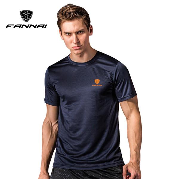 FANNAI Sport Shirt Men Tops Tees Running Shirts Mens Gym T Shirt Sports Fitness Jersey Quick Dry Fit Camiseta Running Hombre