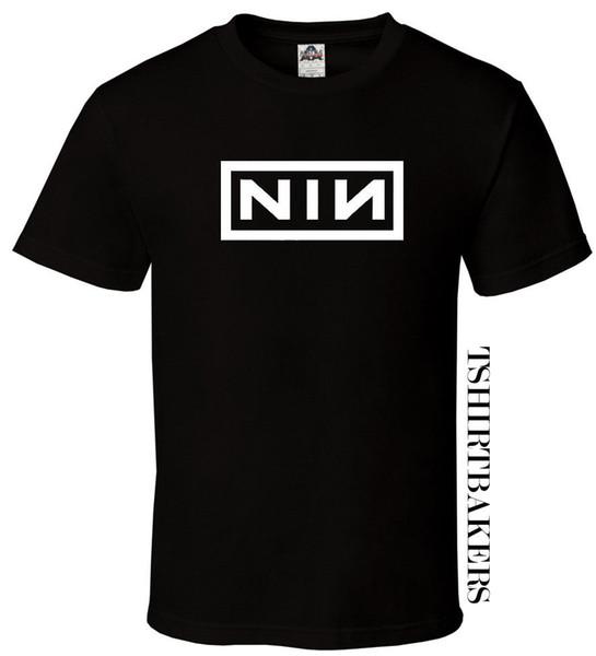 NIN-Black T-Shirt Fan 9 Nove Inch Rocha Ohio Trent Todos Os Tamanhos S-3XLFunny frete grátis Unisex Casual Tshirt top