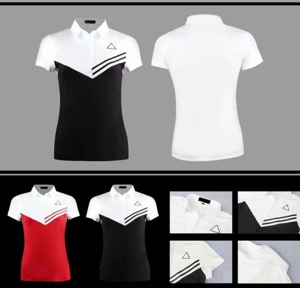 2019 OEM Le Golf T-shirt women's summer dry fit sports functional fabric assorted color sports tops 2 color available