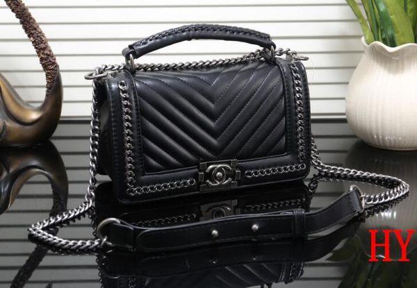 ce8f6c085b4d9d 2018 new CHANEL women famous handbag leather cross pattern square bags one  shoulder messenger bag crossbody