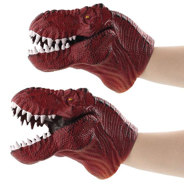 1 Stücke Dinosaurier Handpuppen Rollenspiel Realistische Tyrannosaurus Dinosaurier Kopf Handschuhe Spielzeug Puppen Kinder Spielzeug Tiere Spielzeug Für Kinder