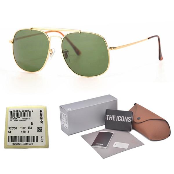 New Arrival Sunglasses for Men women Brand Designer Metal Frame uv400 gradient Glass Lenses Sport driving glasses with Retail box and label