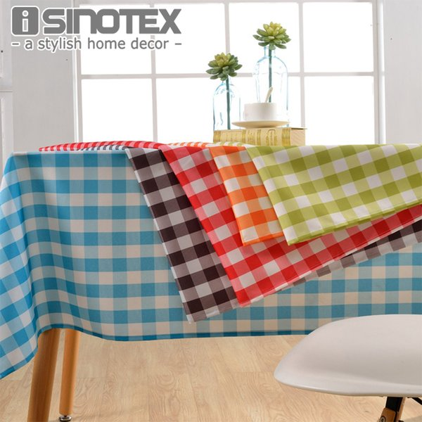 Lattice Party Table Cover Cloth Plaid Tablecloth Yarn Dyed Plain Tablecloths Home Dining Room 1pcs/lot T8190620