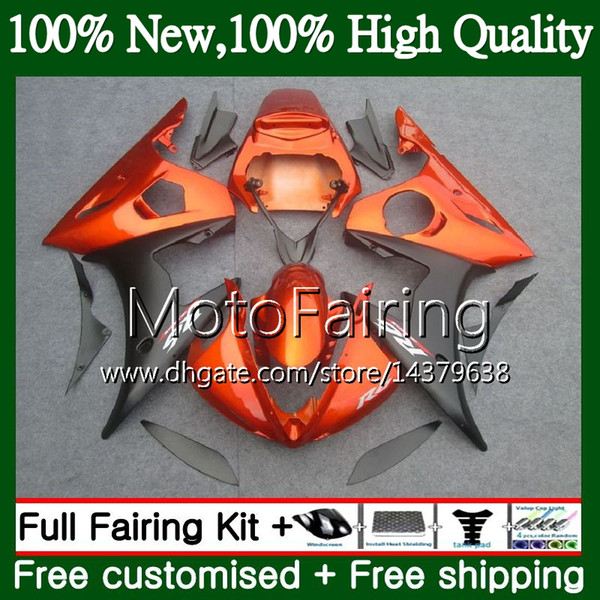 Bodys For YAMAHA YZF R6 S Orange black YZF600 YZFR6S 06 07 08 09 102MF4 YZF-600 YZF R6S YZF-R6S 2006 2007 2008 2009 Fairing Bodywork Kit