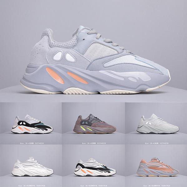 2019h Nível Corporativo New 700 s Corredor Da Onda Dos Homens Tênis de Corrida Das Mulheres Da Marca Kanye West Designer Shoes 700 s V2 Esportes Estáticos Seankers 36-45