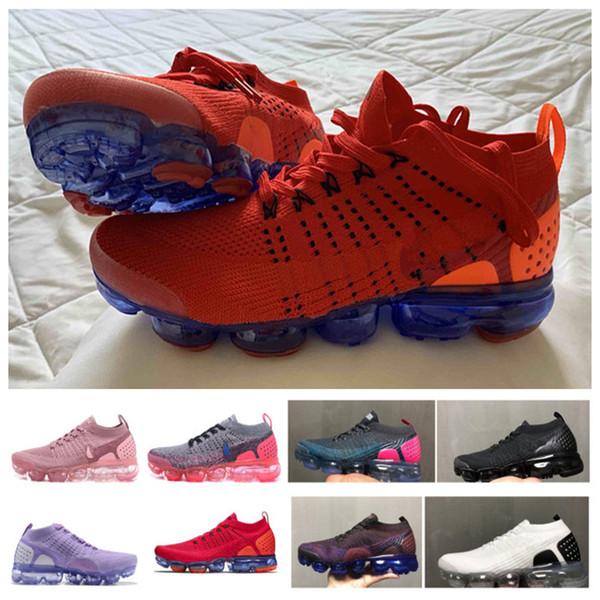 2019 Shoes Moc 2 2.0 Rahat Ayakkabılar Üçlü Siyah Erkek Kadın Sneakers Fly Beyaz örgü Hava yastığı Eğitmenler Zapatos B ...