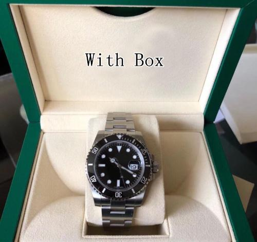 116610 sub Mens Stainless Steel Black Ceramic Bezel & Black Dial Mechanical (Automatic) Men's watches Full Set Box/Papers