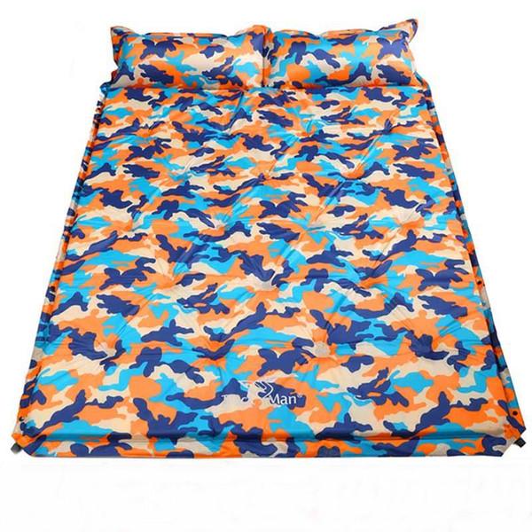 Descobertas 2 3 4 Pessoa emenda infláveis automática colchão de ar Colchões Umidade Pad portátil dormir Pads Airbbed W / Pillow