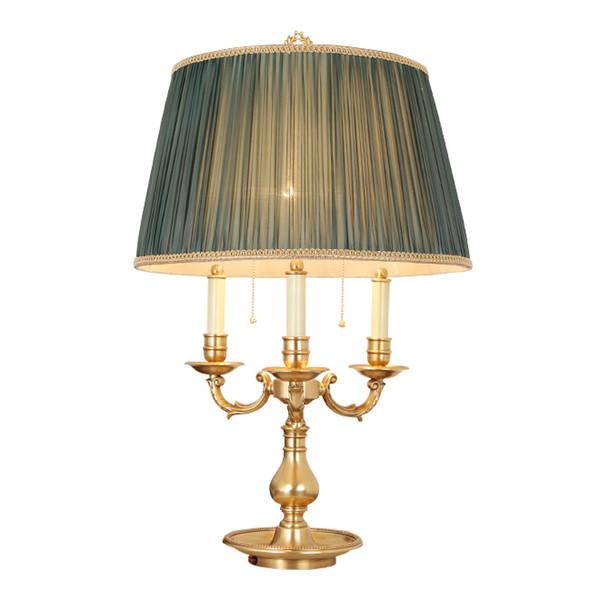 Новый дизайн американский ретро стиль медные настольные лампы декоративные роскошные классические настольные лампы отель вилла гостиная спальня светодиодные настольные светильники