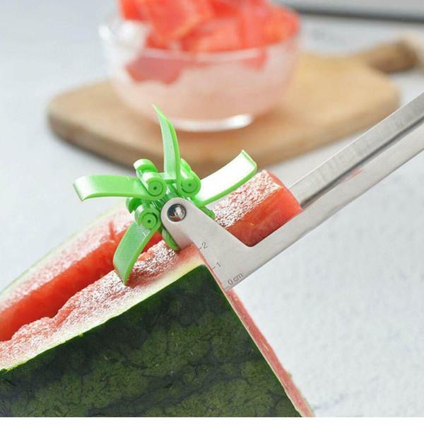 Cortadora de sandía de EE. UU. Cortadora de plástico en forma de molino de viento para cortar herramientas de sandía