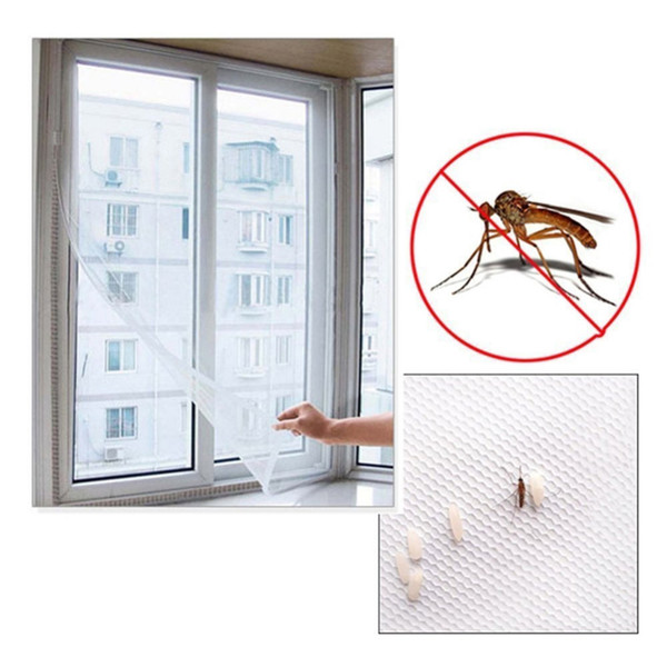 top popular Anti Mosquito Window Self-adhesive Mosquito Net Flyscreen Curtain Insect Fly Mosquito Bug Mesh Window Screen Home With Tape 2021