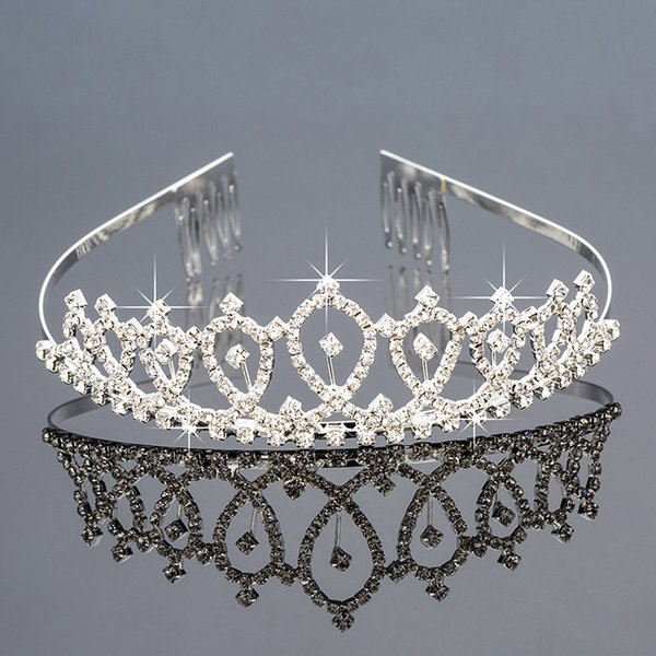 best selling Bridal Tiaras Crowns With Rhinestones Bridal Jewelry Girls Evening Prom Party Performance Pageant Crystal Wedding Tiaras BW-ZH032