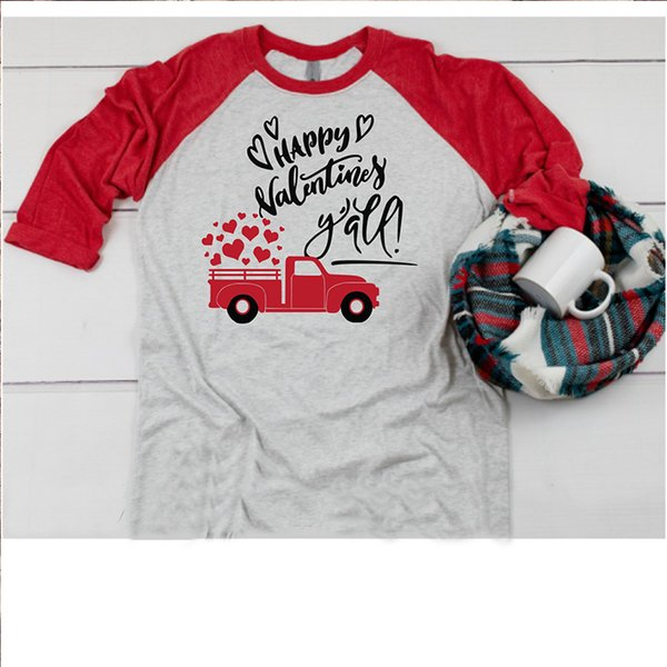 226f114a6a Valentine Shirts Women Vintage Couple Shirt Long Sleeve Tees Womens Plus  Size Love Print Streetwear Clothing