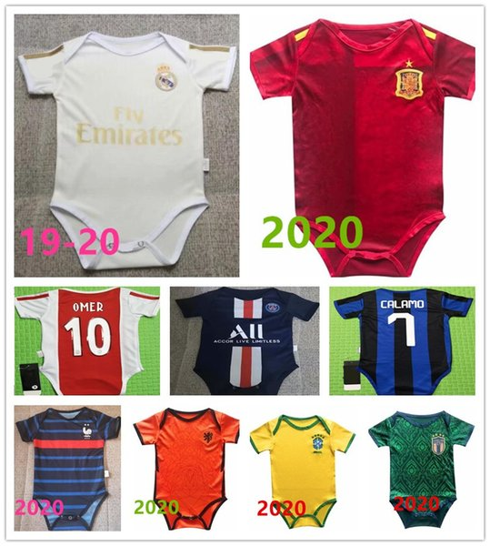 top popular Baby jersey 1920 Real Madrid Paris Spain baby football jersey 6-18 months soccer shirt 2020