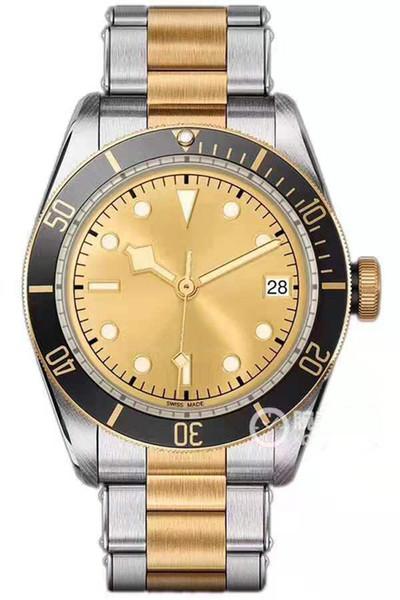 Горячий высокое качество Часы ТУД Маленький красный цветку 79220 сапфировое стекло роскошные мужские часы из нержавеющей стали 8215 механические автоматические наручные часы
