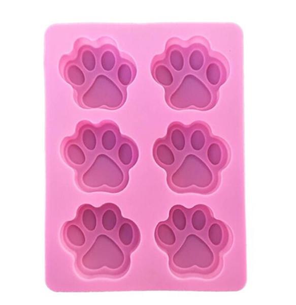 Cookie Backformen Hund Pfote Silikonform Kuchen Dekorieren Tools Ausstecher Gebäck Zubehör Küche Accessoriess