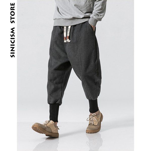 2019 Sinicism Store Winter Pants Men 2018 Mens Harajuku Ankle Banded  Joggers Pants Male Streetwear Thick Chinese Style Sweatpants 5xl T2190606  From