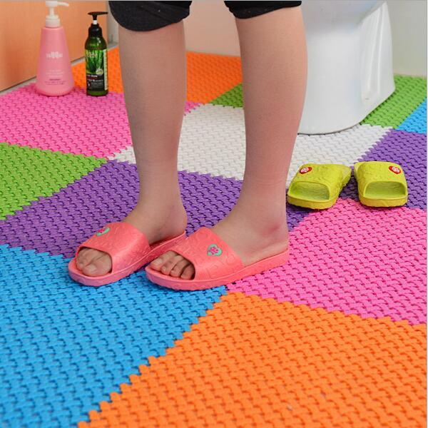 25cmx25cm DIY bath mats non-slip plastic bathroom massage carpets shower mats toilet floor mats 6 colors