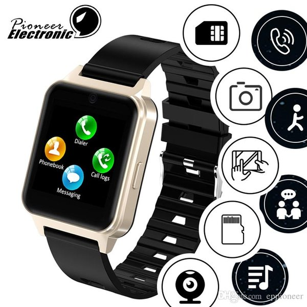 For apple iphone Newest android Bluetooth Smart Watch 2019 smartwatch Support SIM TF Card with Camera PK GT08
