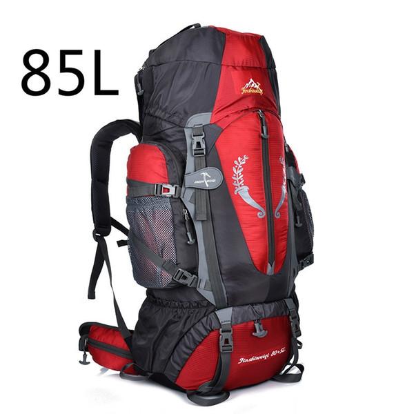 2018 Hot Large 85L Outdoor Backpack Unisex Travel Multi-purpose climbing backpacks Hiking big capacity Rucksacks camping bag #108503
