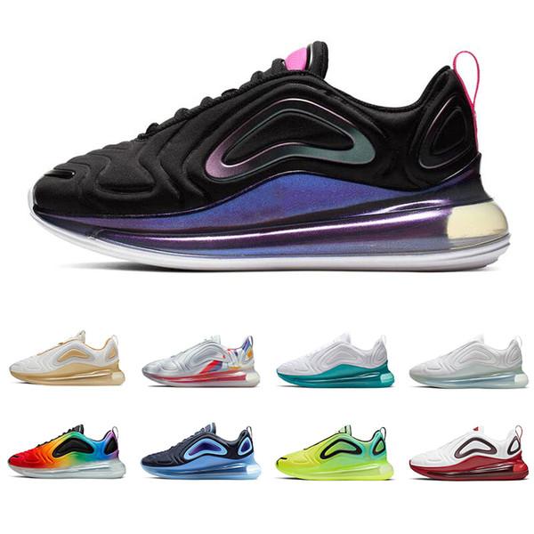 Großhandel Nike Airmax Air Max 720 Neue Laufschuhe Für Herren Damen Be True Easter Pack GYM RED Schwarz Speckle Spirit Teal VOLT Herren Sneakers