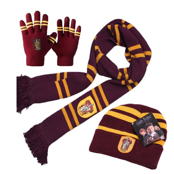 Harry Potter Eşarp Eşarplar Şapka Dokunmatik Eldiven Gryffindor / Slytherin / Hufflepuff / Ravenclaw Atkılar Şapka Dokunmatik Eldiven Harry'nin Eşarp MMA2676-C2