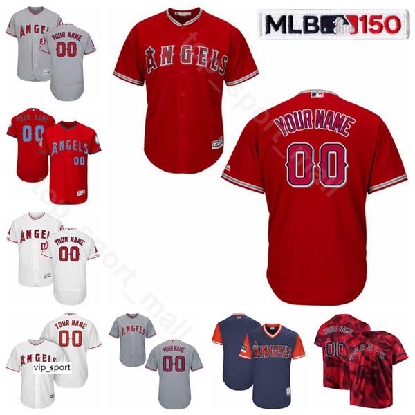 Лос-Анджелесские бейсбольные ангелы 30 Трикотажные изделия Nolan Ryan Cool Base 31 Чак Финли 11 Джим Фрегози 29 Род Карью Брайан Даунинг Тим Сэлмон