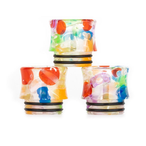 Wholesale VapeSoon 810 Candy Resin Drip Tip Slim Waist Style Beautiful Drip Tip For TFV8 Stick V8 Kit TFV12 Prince SKRR etc fast shipping
