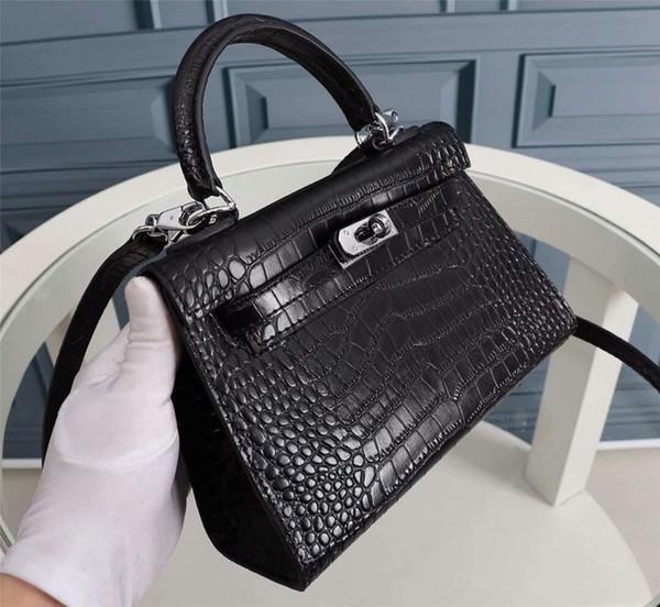 Borse da donna Vintage stampato coccodrillo in pelle 2019 Retro Brown Scaves Mini moda borse per cellulare Portatili Tote