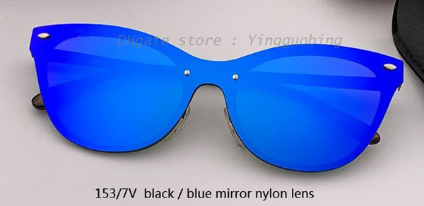 153/7V black/blue mirror lens