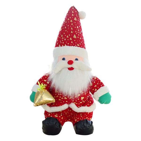 Toys For Children Christmas Plush Toy Lovely Mini Santa Claus Model Dolls Soft Plush Toy Kids Baby Boys Girls Christmas Gift