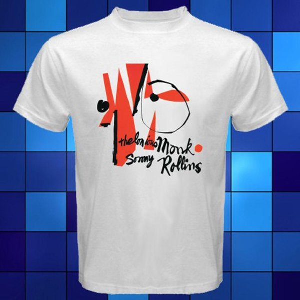 New Thelonious Monk and Sonny Rollins Jazz Music White T-Shirt Size S to 3XL