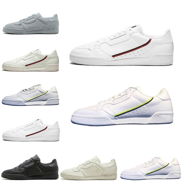 Großhandel Adidas Calabasas Classic Calabasas Powerphase Weiß Continental 80 Freizeitschuhe Kanye West Core Schwarz OG Weiß Herren Damen Skateboard