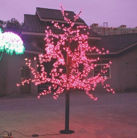 972 Pcs LED 6ft Hauteur LED Arbre De Fleur De Cerisier LED Arbre De Noël Lumière Étanche 110 / 220VAC ROUGE / Rose / BLEU Couleur Utilisation extérieure 1pcs
