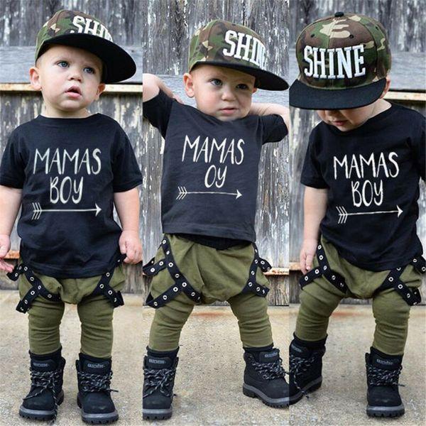 Neonato bambino neonati 6M-5T cotone Tops Pantaloni T-shirt Outfit Abbigliamento Tuta Set