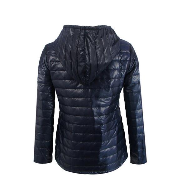 Moda Donna Inverno Cappotto Maniche lunghe Tinta unita Zip Outwear Tenere al caldo Ladies Girls Casual Jacket GM