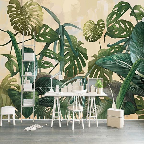 Satın Al özel Duvar Kağıdı Tropikal Yağmur Ormanı Palm Muz Yaprak