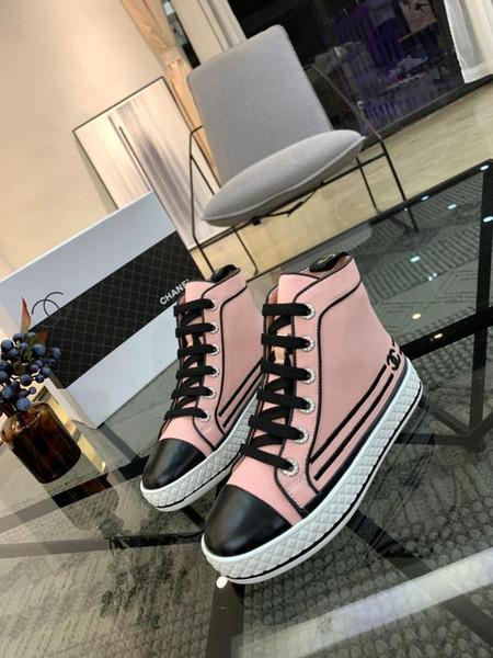 2019A yeni lüks özel bayanlar çizmeler, moda vahşi kadın spor ayakkabı, yüksek kalite bayanlar rahat ayakkabılar, orijinal kutu fatura ambalaj