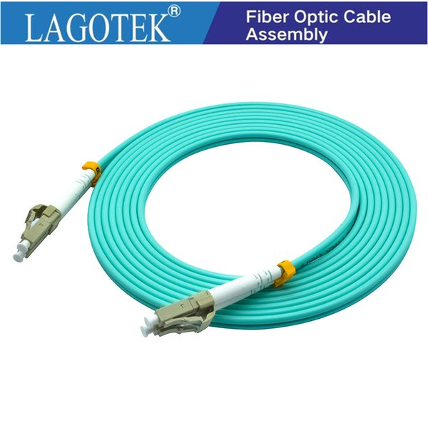 10Pcs/Lot,3M,LC to LC OM3 OM4 Multimode 10G Fiber Patch cord Duplex MM 50/125um,PVC Jacket,3.0mm Fiber Optic Cable