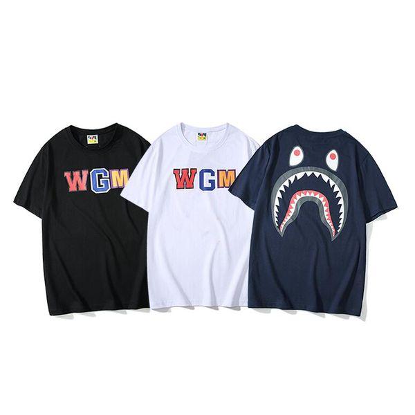 2019 новые мужские женские футболки хип-хоп футболка мода для мужчин Женщины с коротким рукавом большой размер Письмо печати мужская тройники повседневная топы q12