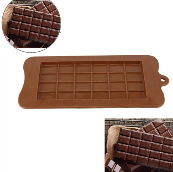 1xSquare Chocolate Mold Bar Block Ice Silicone Cake Candy Sugar Bake Mould Tool