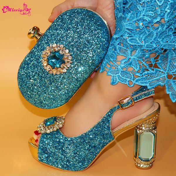 Italienische elegante Schuhe mit passender Tasche Größe 38-42 Hochwertige afrikanische Schuhe mit hohen Absätzen und Tasche für die Party