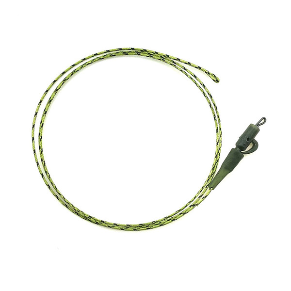 2pcs Camo green Lead Core Leader loop With Swivel hook link line Very Supple Safety Lead Clips 45 LB for Carp Fishing