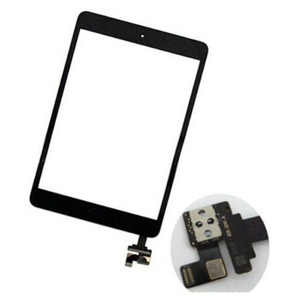 2019 Sıcak Satış Dokunmatik Ekran Cam Panel Sayısallaştırıcı ile ic Konektörü Düğmeleri ile iPad Mini 2 STY190