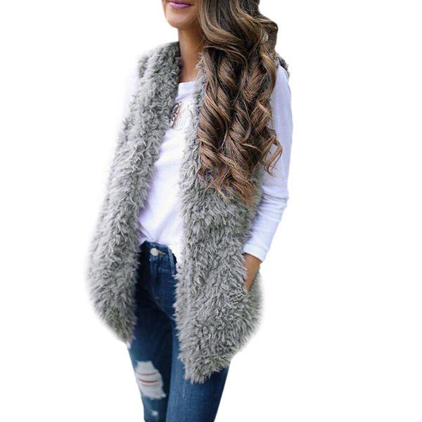 New Women Fashion Body Warmer Vest Waistcoat Gilet Ladies Casual Sleeveless Pockets Jacket Coat Outwear Tops