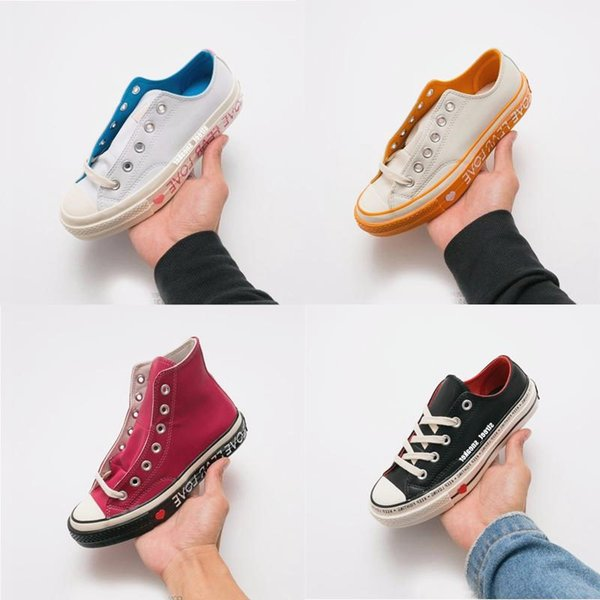 Chuck 70 Low Top Love Graphic 1970 women sports shoes canvas shoesTop Quality Mens Women Couples Lovers Trainers Training Sneakers