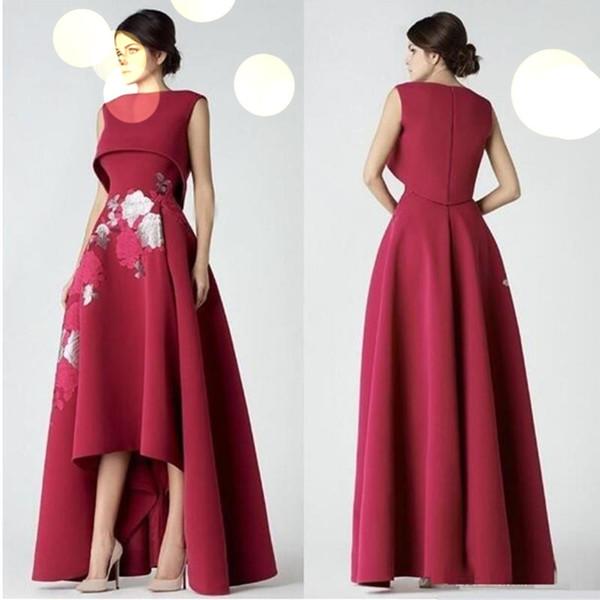 Элегантный Плюс Размер Кружева Высокий Низкий Пром Платья 2019 Saiid Kobeisy Vestidos De Fiesta Особый Случай Вечерние Платья Знаменитости Платье