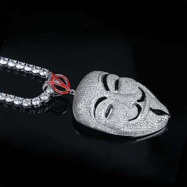 Pendant + 4mm 18 inch tennis chain