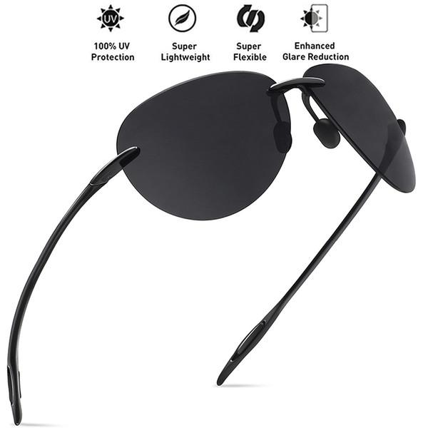 Juli Klasik Spor Güneş Erkekler Kadınlar Erkek Sürüş Pilot Çerçevesiz Tr90 Ultralight Çerçeve Güneş Gözlükleri Uv400 Gafas De Sol Mj8008
