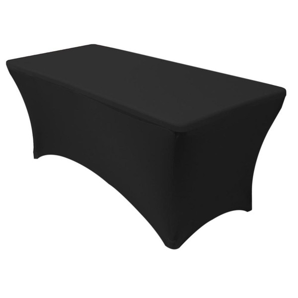 top popular 1pcs Rectangular Spandex Lycra Table Cover Stretch Bar Tablecloth For Wedding Party Hotel Decoration 6FT 4FT 2020
